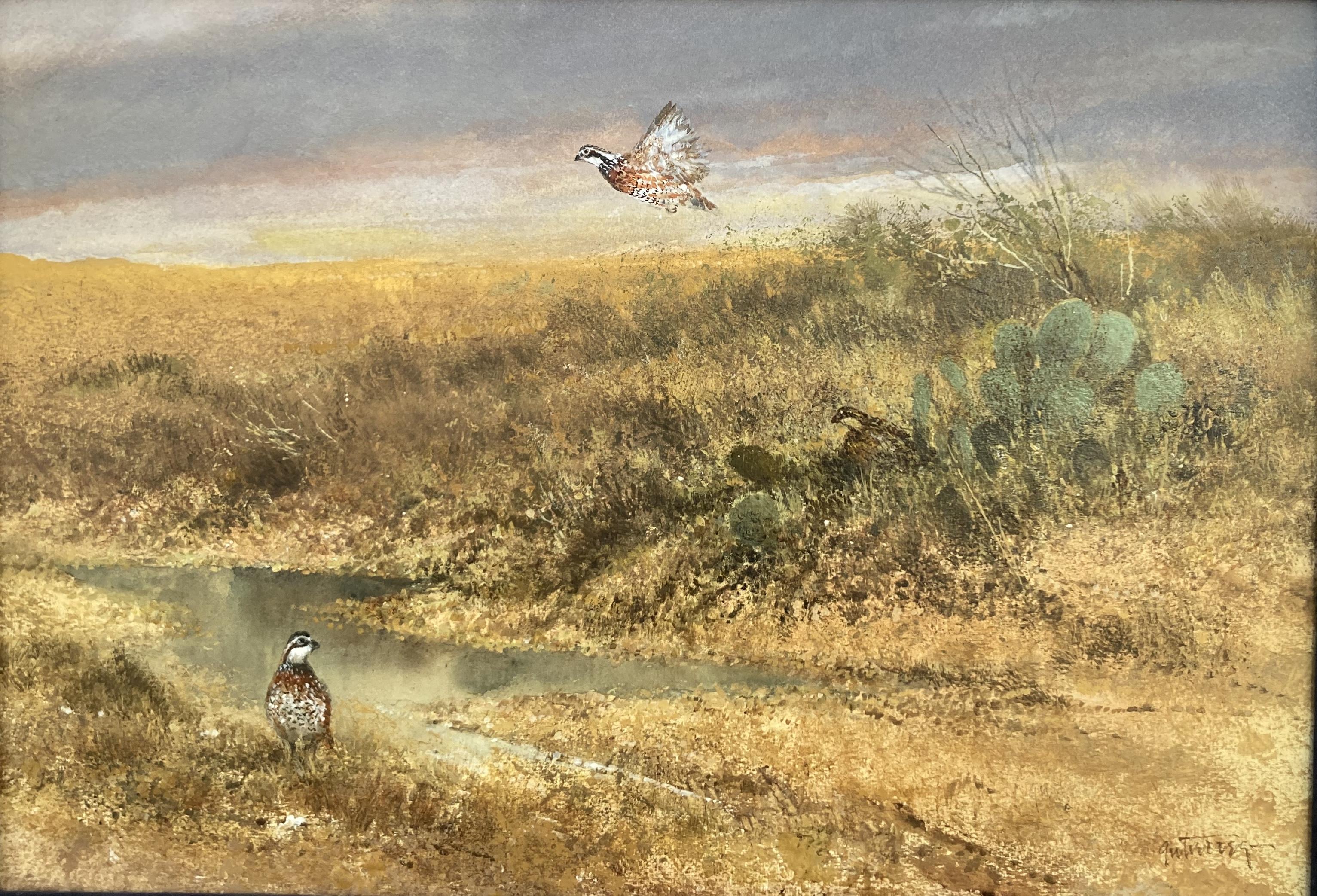 Bobwhites Watercolor
